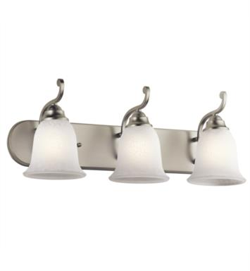 "Kichler 45423OZ Camerena 3 Light 24"" Incandescent Wall Mount Bath Light with Bowl Shaped Glass Shade With Finish: Olde Bronze"