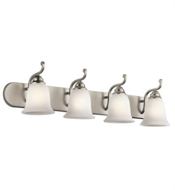 "Kichler 45424OZ Camerena 4 Light 36"" Incandescent Wall Mount Bath Light with Bowl Shaped Glass Shade With Finish: Olde Bronze"