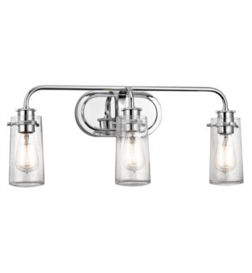 "Kichler 45459OZ Braelyn 3 Light 24"" Incandescent Wall Mount Bath Light with Jar Shaped Glass Shade With Finish: Olde Bronze"
