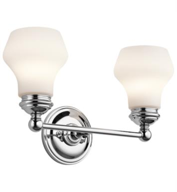 "Kichler 45487ORZ Currituck 2 Light 16"" Incandescent Wall Mount Bath Light with Dome Shaped Glass Shade With Finish: Oil Rubbed Bronze"