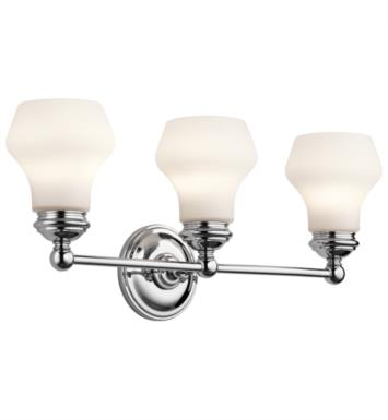 "Kichler 45488ORZ Currituck 3 Light 23 1/4"" Incandescent Wall Mount Bath Light with Dome Shaped Glass Shade With Finish: Oil Rubbed Bronze"
