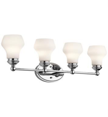 "Kichler 45489ORZ Currituck 4 Light 32 1/4"" Incandescent Wall Mount Bath Light with Dome Shaped Glass Shade With Finish: Oil Rubbed Bronze"