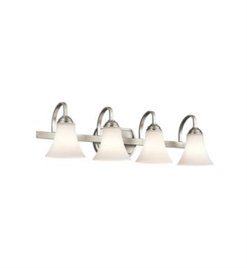 "Kichler 45514OZ Keiran 4 Light 30"" Incandescent Wall Mount Bath Light with Bell Shaped Glass Shade With Finish: Olde Bronze"