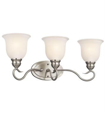 "Kichler 45903OZ Tanglewood 3 Light 23 1/4"" Incandescent Wall Mount Bath Light with Bell Shaped Glass Shade With Finish: Olde Bronze"