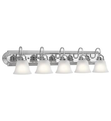 "Kichler 5339 5 Light 36"" Incandescent Wall Mount Bath Light with Bell Shaped Glass Shade"