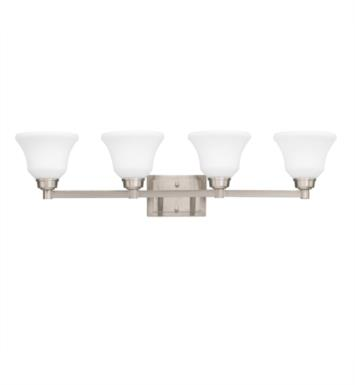 "Kichler 5391NI Langford 4 Light 35"" Incandescent Wall Mount Bath Light with Bell Shaped Glass Shade With Finish: Brushed Nickel"