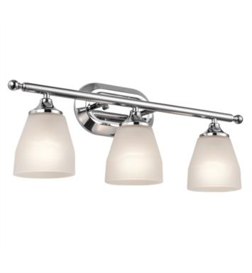 "Kichler 5448NI Ansonia 3 Light 23"" Incandescent Wall Mount Bath Light with Dome Shaped Glass Shade With Finish: Brushed Nickel"