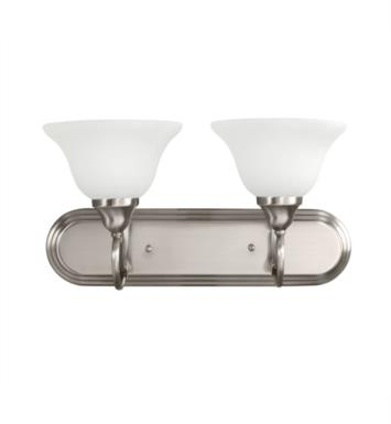 "Kichler 5557AP Stafford 2 Light 18"" Incandescent Wall Mount Bath Light with Bell Shaped Glass Shade With Finish: Antique Pewter"