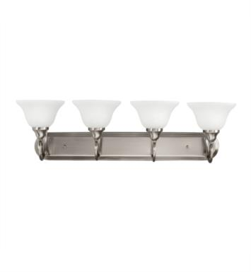 "Kichler 5559OZ Stafford 4 Light 33"" Incandescent Wall Mount Bath Light with Bell Shaped Glass Shade With Finish: Olde Bronze"