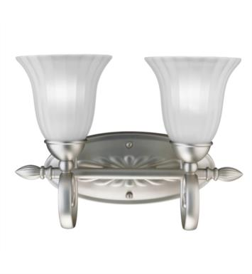 "Kichler 5927NI Willowmore 2 Light 15 1/2"" Incandescent Wall Mount Bath Light with Bell Shaped Glass Shade With Finish: Brushed Nickel"