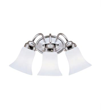 "Kichler 6123CH 3 Light 18"" Incandescent Wall Mount Bath Light with Bell Shaped Glass Shade With Finish: Chrome"