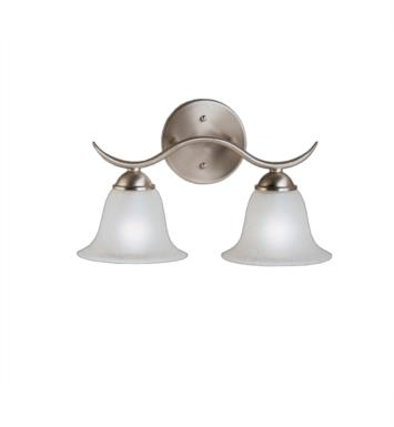 "Kichler 6322TZ Dover 2 Light 14 1/4"" Incandescent Wall Mount Bath Light with Bell Shaped Glass Shade With Finish: Tannery Bronze"