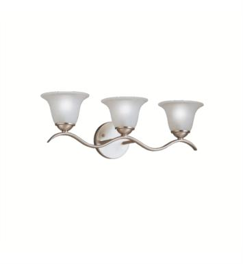 "Kichler 6323TZ Dover 3 Light 22 1/2"" Incandescent Wall Mount Bath Light with Bell Shaped Glass Shade With Finish: Tannery Bronze"