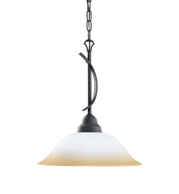 Kichler 3346DBK Pomeroy Collection Pendant 1 Light in Distressed Black