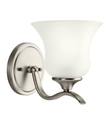 "Kichler 10636NI Wedgeport 1 Light 6 1/4"" Compact Fluorescent Wall Sconce with Bell Shaped Glass Shade With Finish: Brushed Nickel"