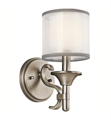 "Kichler 45281MIZ Lacey 1 Light 5"" Incandescent Wall Sconce with Drum Shaped Glass Shade With Finish: Mission Bronze"