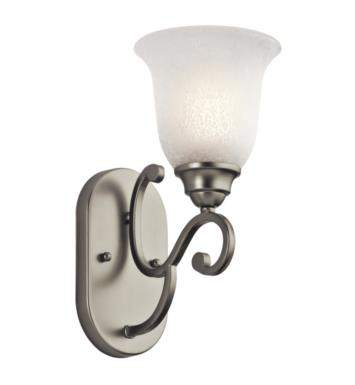 "Kichler 45421NI Camerena 1 Light 6"" Incandescent Wall Sconce with Bell Shaped Glass Shade With Finish: Brushed Nickel"