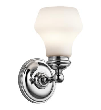 "Kichler 45486CH Currituck 1 Light 5 1/4"" Incandescent Wall Sconce with Dome Shaped Glass Shade With Finish: Chrome"