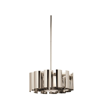 Kichler 42835PN Ziva Collection Pendant 1 Light in Polished Nickel