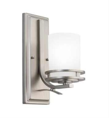 "Kichler 5076NI Hendrik 1 Light 5 1/4"" Incandescent Wall Sconce with Rectangle Shaped Glass Shade With Finish: Brushed Nickel"
