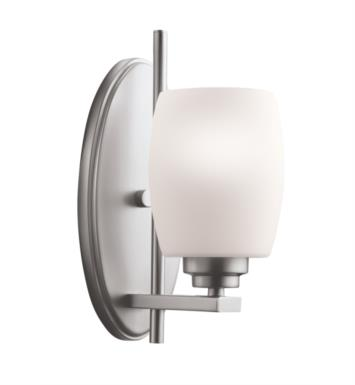 "Kichler 5096NI Eileen 1 Light 4 1/2"" Incandescent Wall Sconce with Tapered Shaped Glass Shade With Finish: Brushed Nickel"