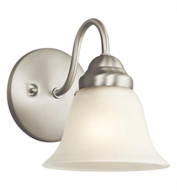 "Kichler 5294NI Wynberg 1 Light 6"" Incandescent Wall Sconce with Bell Shaped Glass Shade With Finish: Brushed Nickel"