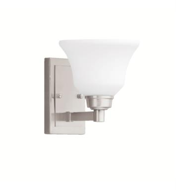 "Kichler 5388NI Langford 1 Light 7 1/4"" Incandescent Wall Sconce with Bell Shaped Glass Shade With Finish: Brushed Nickel"