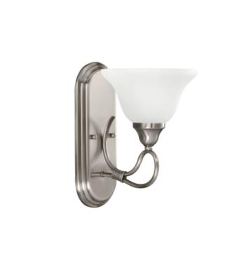 "Kichler 5556OZ Stafford 1 Light 7 1/2"" Incandescent Wall Sconce with Bell Shaped Glass Shade With Finish: Olde Bronze"