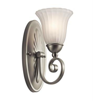 "Kichler 5926TZ Willowmore 1 Light 6 1/4"" Incandescent Wall Sconce with Bell Shaped Glass Shade With Finish: Tannery Bronze"
