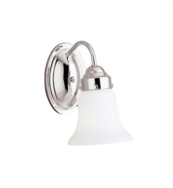 "Kichler 6121CH 1 Light 5"" Incandescent Wall Sconce with Bell Shaped Glass Shade With Finish: Chrome"
