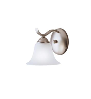 "Kichler 6719TZ Dover 1 Light 6 1/4"" Incandescent Wall Sconce with Bell Shaped Glass Shade With Finish: Tannery Bronze"