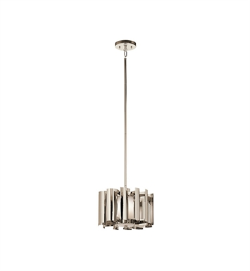 Kichler 42834PN Ziva Collection Pendant 1 Light in Polished Nickel
