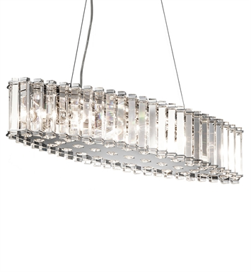 Kichler 42172CH Crystal Skye Collection Chandelier/Oval Pendant 8 Light in Chrome