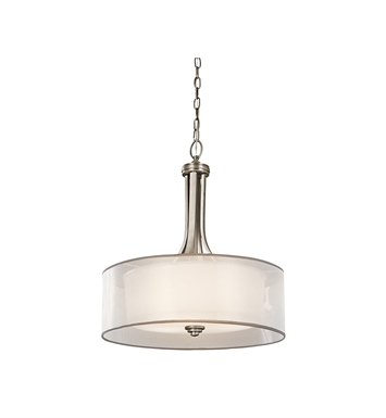 Kichler 42385AP Lacey Collection Inverted Pendant 3 Light in Antique Pewter