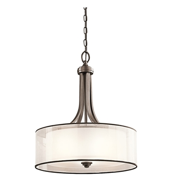 Kichler 42385MIZ Lacey Collection Inverted Pendant 3 Light in Mission Bronze