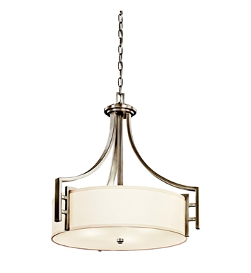 Kichler 42252AP Quinn Collection Inverted Pendant 3 Light in Antique Pewter