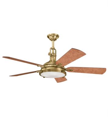 "Kichler 300018OBB Hatteras Bay 5 Blades 56"" Indoor Ceiling Fan With Finish: Oil Brushed Bronze"