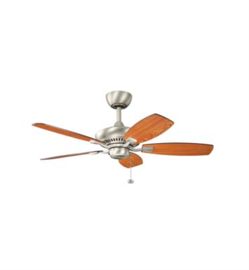 "Kichler 300107NI Canfield 5 Blades 44"" Indoor Ceiling Fan With Finish: Brushed Nickel"