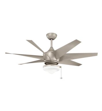 "Kichler 310112ANS Lehr II Climates 7 Blades 54"" Indoor Ceiling Fan With Finish: Antique Satin Silver"
