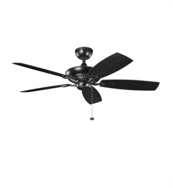 "Kichler 310192SBK Canfield Patio 5 Blades 52"" Indoor Ceiling Fan With Finish: Satin Black"