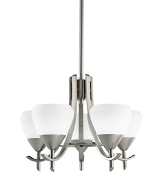 Kichler Olympia Collection Mini Chandelier 5 Light in Antique Pewter