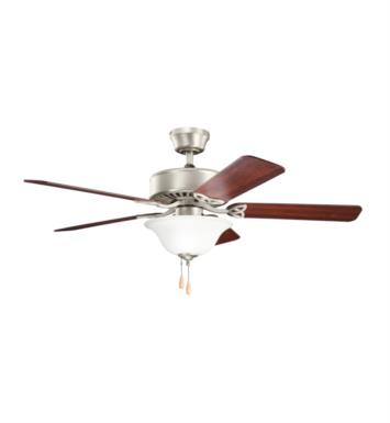 "Kichler 330103NI Renew Select Es 5 Blades 50"" Indoor Ceiling Fan With Finish: Brushed Nickel"