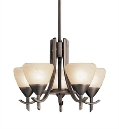 Kichler Olympia Collection Mini Chandelier 5 Light in Olde Bronze