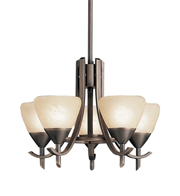 Kichler 1678OZ Olympia Collection Mini Chandelier 5 Light in Olde Bronze