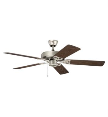 "Kichler 401SBK Basics Patio 5 Blades 52"" Indoor Ceiling Fan With Finish: Satin Black"