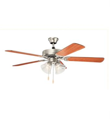 "Kichler 402SNBU Basics Premier 5 Blades 52"" Indoor Ceiling Fan With Finish: Satin Natural Bronze"