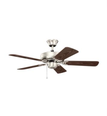"Kichler 414SBK Basics Patio 5 Blades 42"" Indoor Ceiling Fan With Finish: Satin Black"