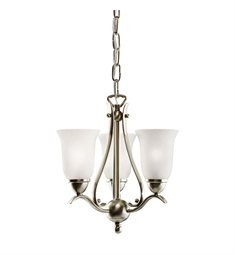 Kichler Dover Collection Pendalette 3 Light in Brushed Nickel