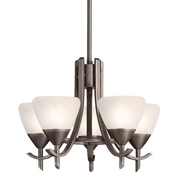 Kichler 1678OZW Olympia Collection Mini Chandelier 5 Light in Olde Bronze