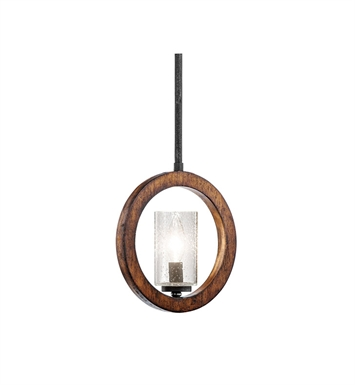 Kichler 43189AUB Grand Bank Collection Pendalette 1 Light in Auburn Stained Finish